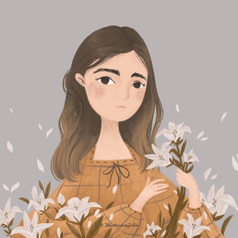 portrait-flower-lily-illustration-2