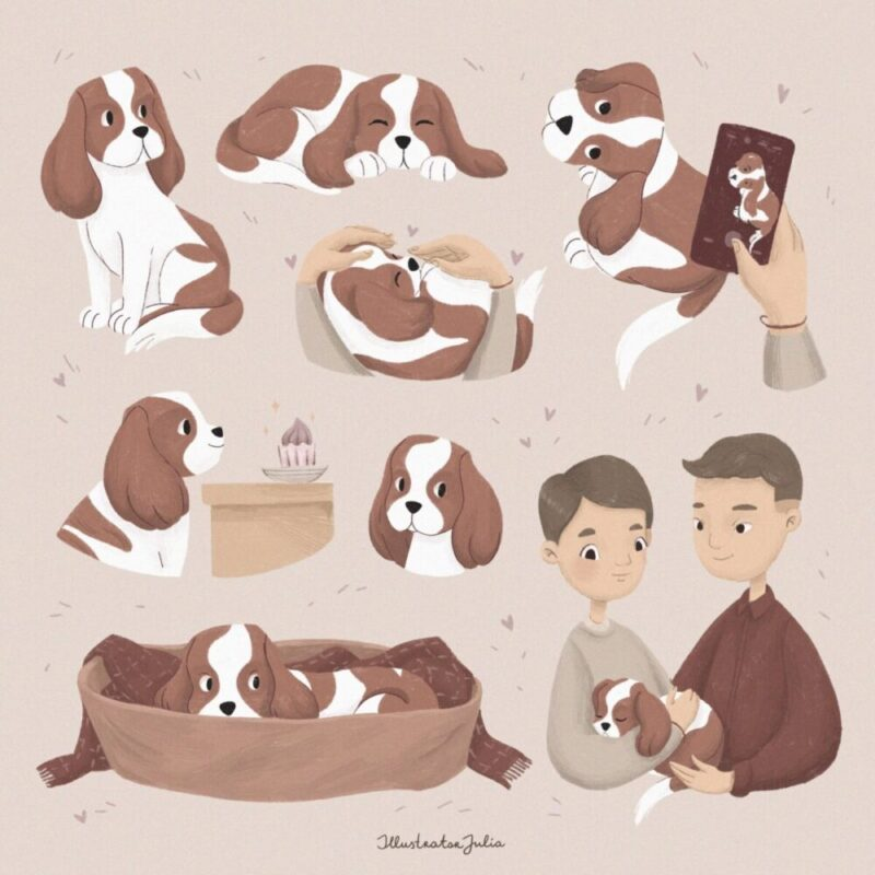 Varvara_the_dog_illustrations